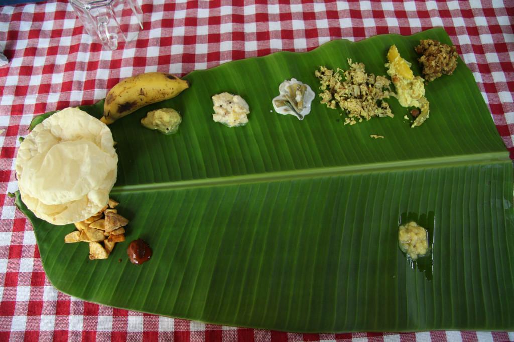 When in Kerala, don't miss a sadya!