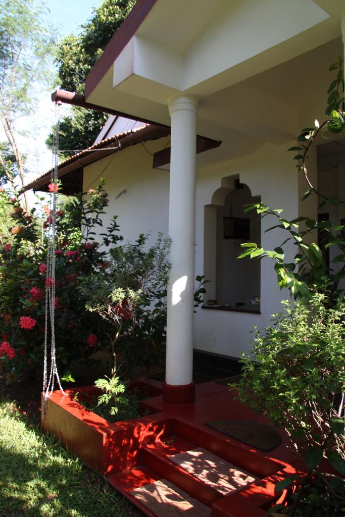 The front verandah of the main house