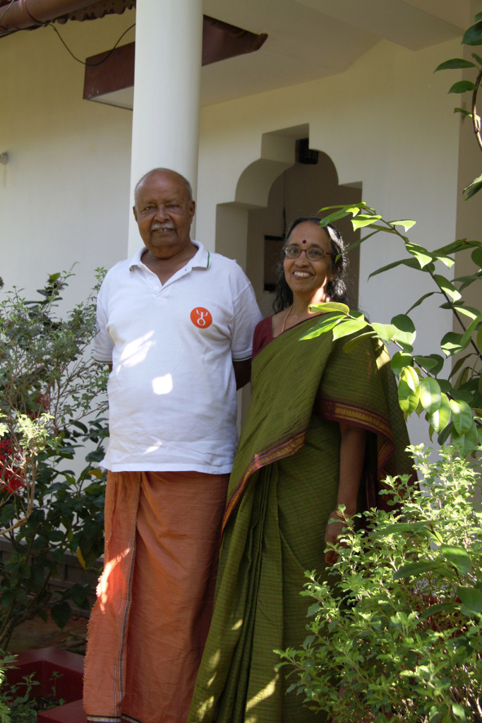 The gracious hosts, Mr Ravindran and his wife Rama