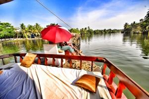 Meandering through Kerala's beautiful backwaters