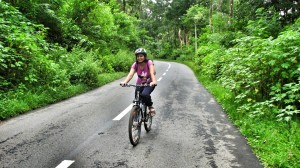 The back country roads are a delight for any cyclist